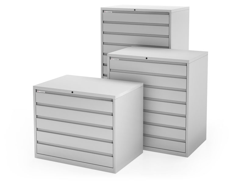 Media Storage Cabinets by Russ Bassett